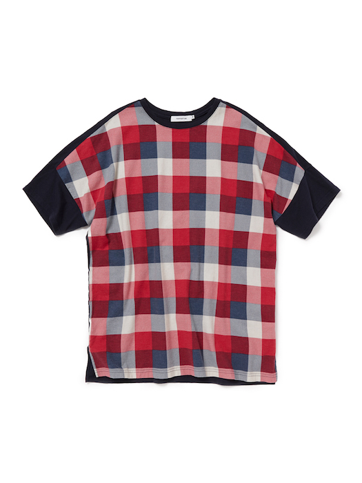 画像4: SALE 30%OFF!! nonnative / ノンネイティブ /  CLERK TEE S/S COTTON NEL BLOCK CHECK PRINT WITH COTTON JERSEY
