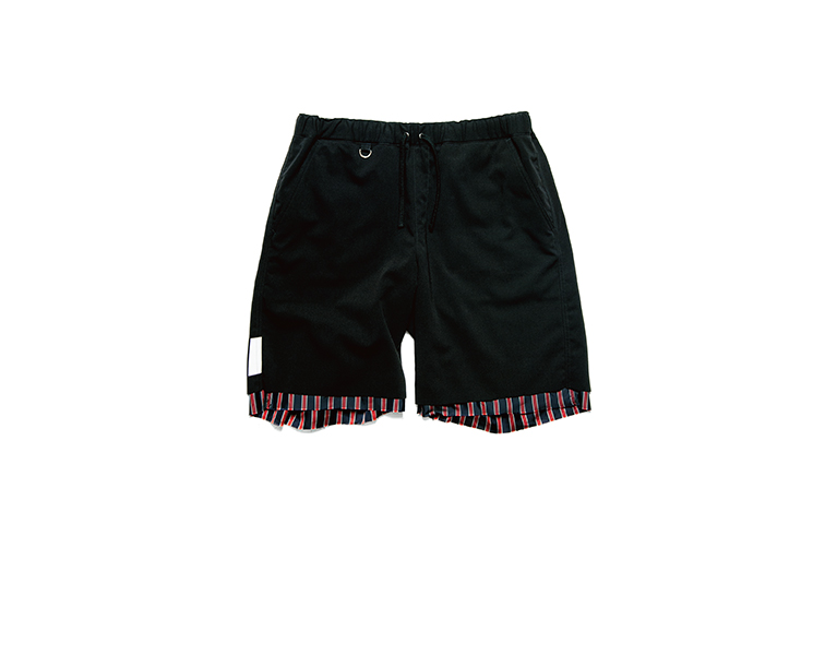 画像1: SALE 30%OFF!! uniform experiment / CUT HEM STRIPE LAYERED SHORTS