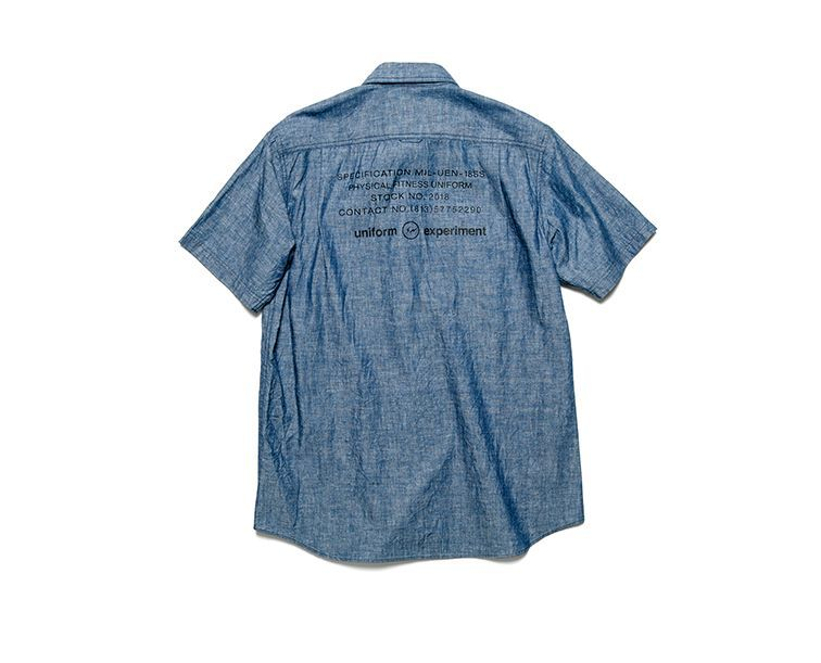 画像3: SALE 30%OFF!! uniform experiment / S/S UEN PHYSICAL FITNESS CHAMBRAY WORK SHIRT