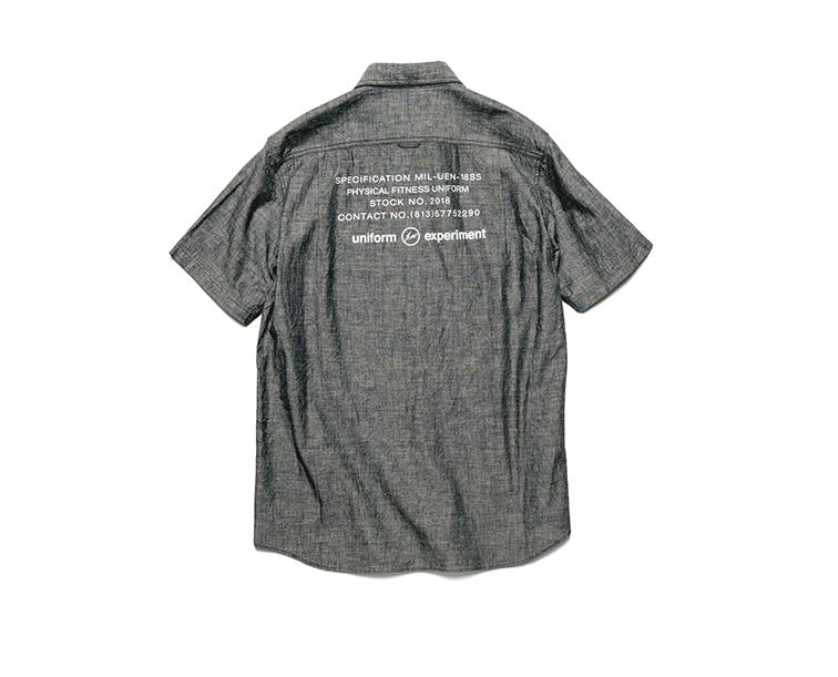 画像1: SALE 30%OFF!! uniform experiment / S/S UEN PHYSICAL FITNESS CHAMBRAY WORK SHIRT