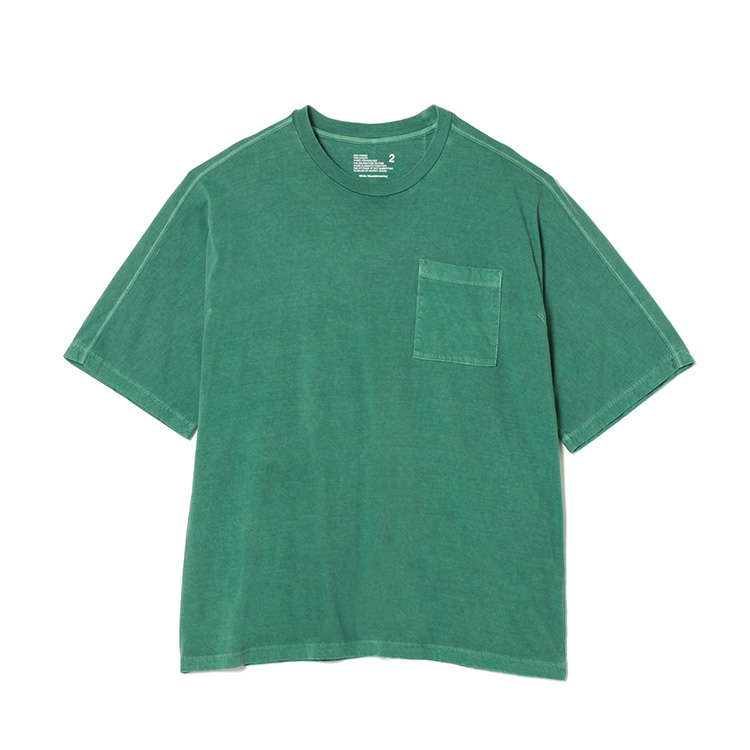 画像2: White Mountaineering / ホワイトマウンテニアリング / garment dyed half sleeve big t-shirt.