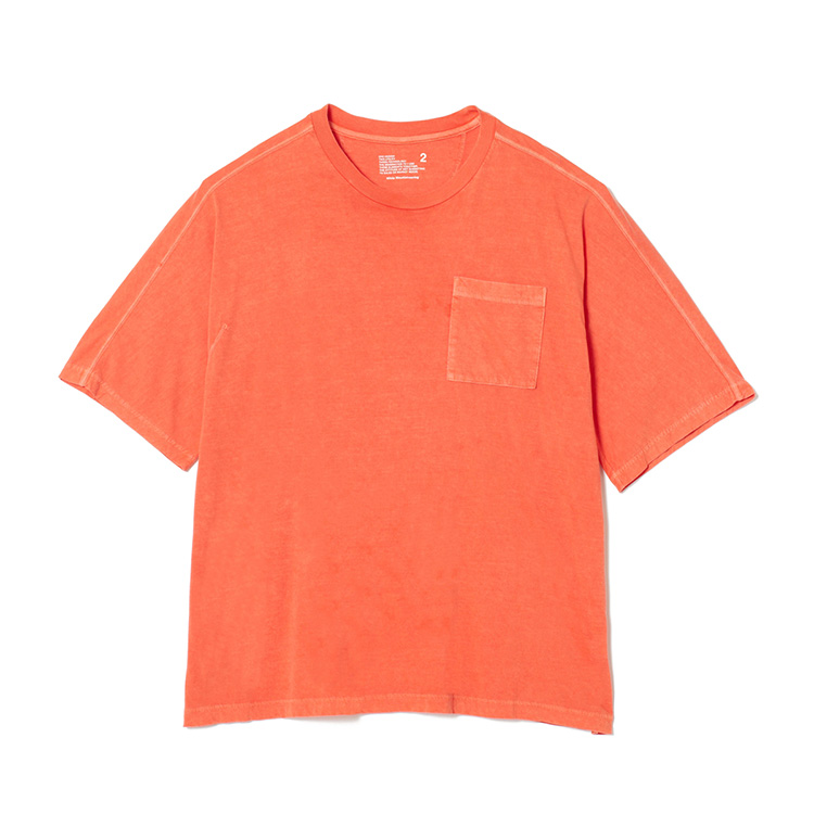 画像3: White Mountaineering / ホワイトマウンテニアリング / garment dyed half sleeve big t-shirt.