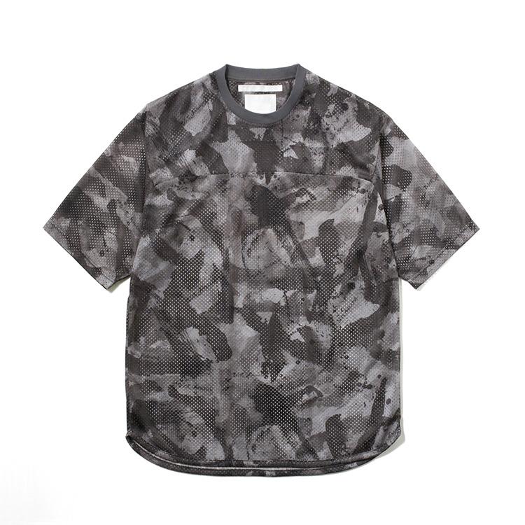 画像2: White Mountaineering / ホワイトマウンテニアリング / sumi-e painting mesh hokey jersey shirt.