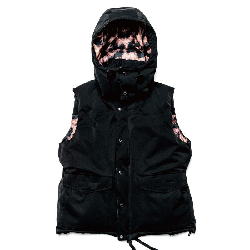 画像1: uniform experiment / REVERSIBLE HOODED DOWN VEST